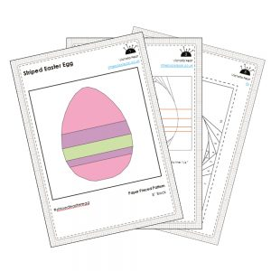 Striped Easter Egg Sample Pages