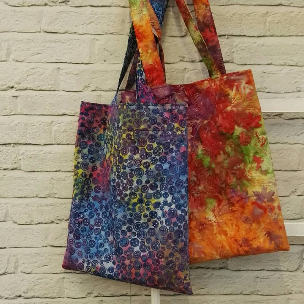 Batik Tote Bags for the Sewing Quarter