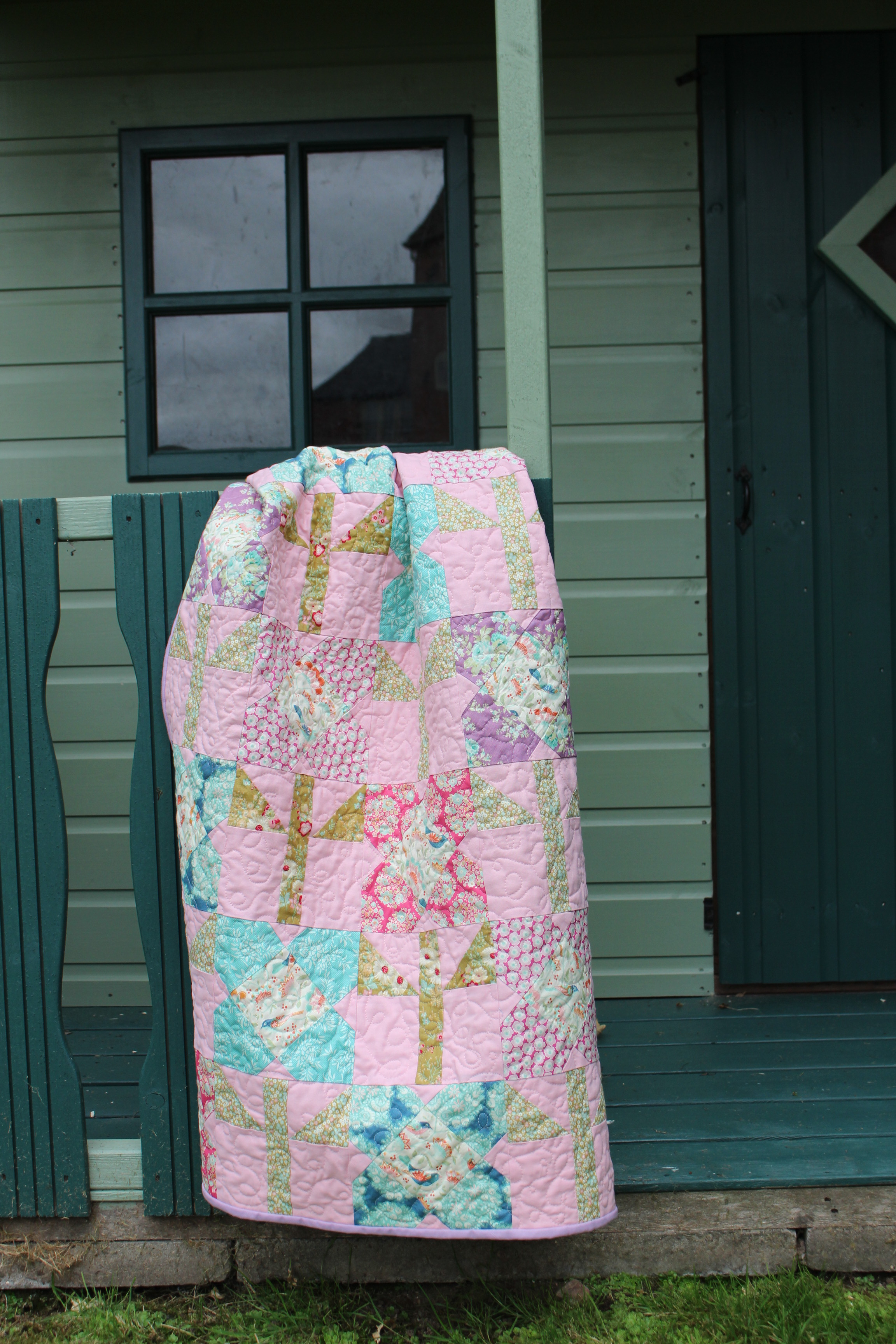 Sewing by Heart Flower Quilt made for the Tilda Blog Hop