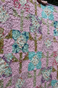 FMQ detail on Tree Quilt