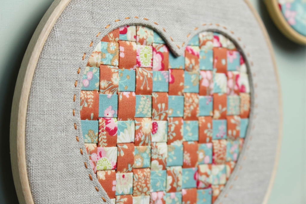 Reverse Applique Woven Heart Detail