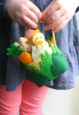 Felt Easter Basket and Friends for Sew Mama Sew
