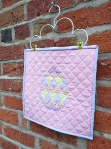 Fancy Easter Egg FPP Mini Quilt