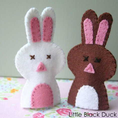 Pair of Bunny Finger Puppets