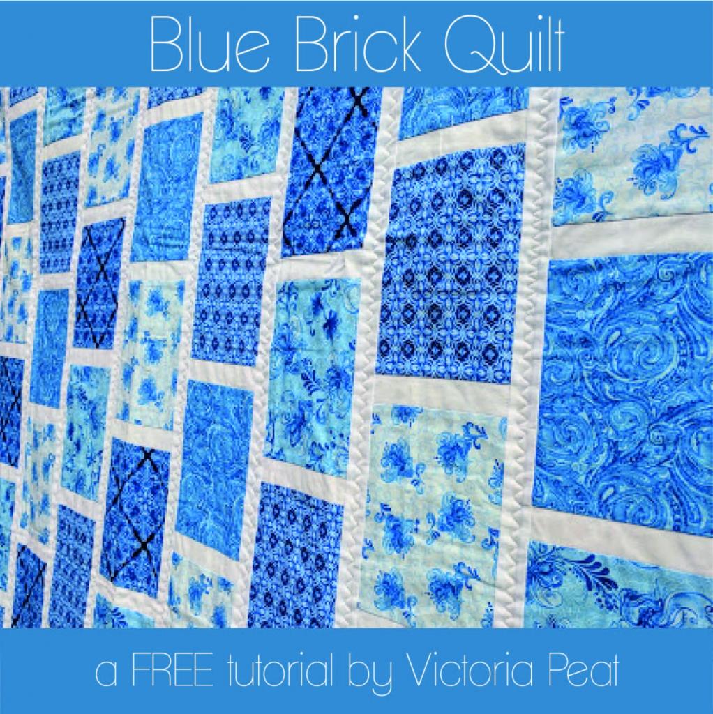 Blue Brick Quilt FREE Tutorial