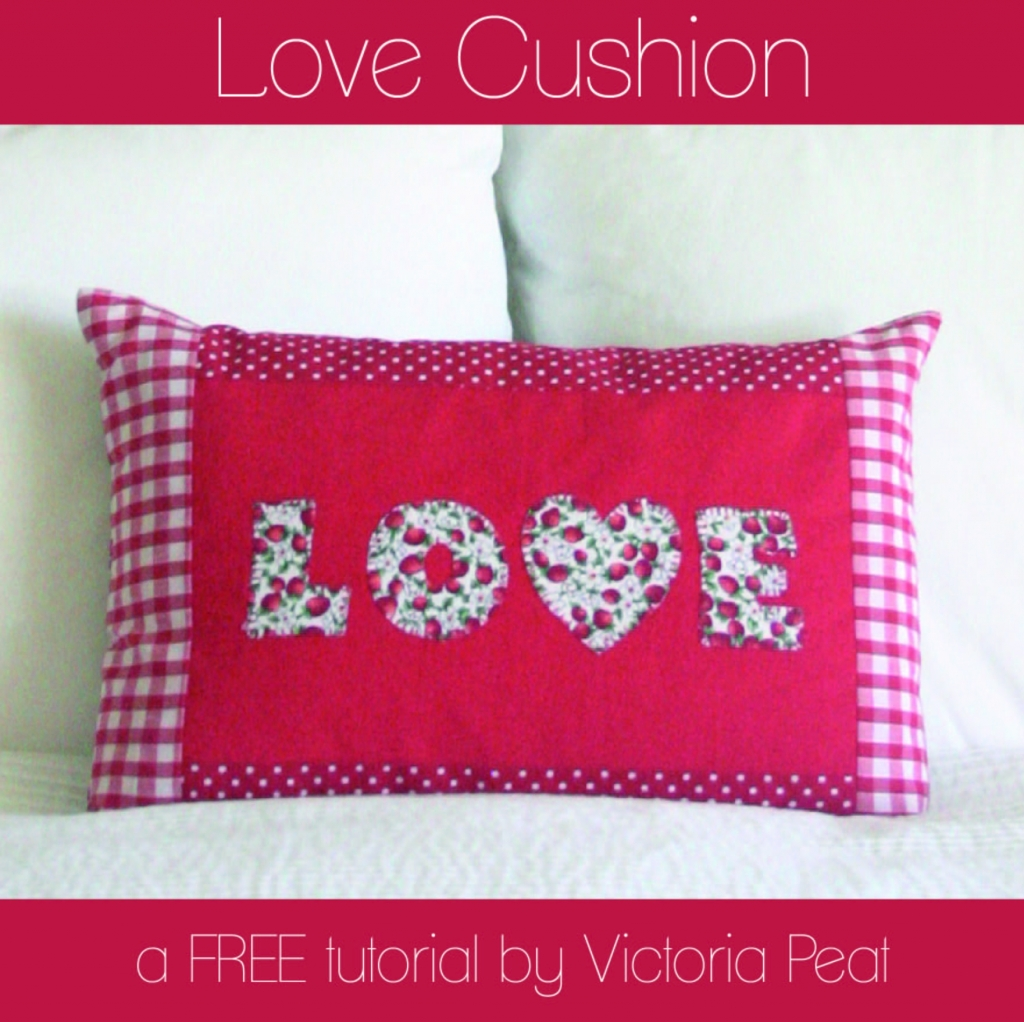 Love Cushion Free Tutorial