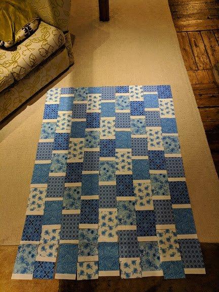 Blue Brick Quilt Layout Planning