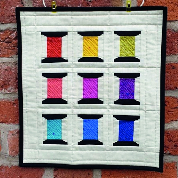 Spools of Thread Mini Quilt Wall Hanging