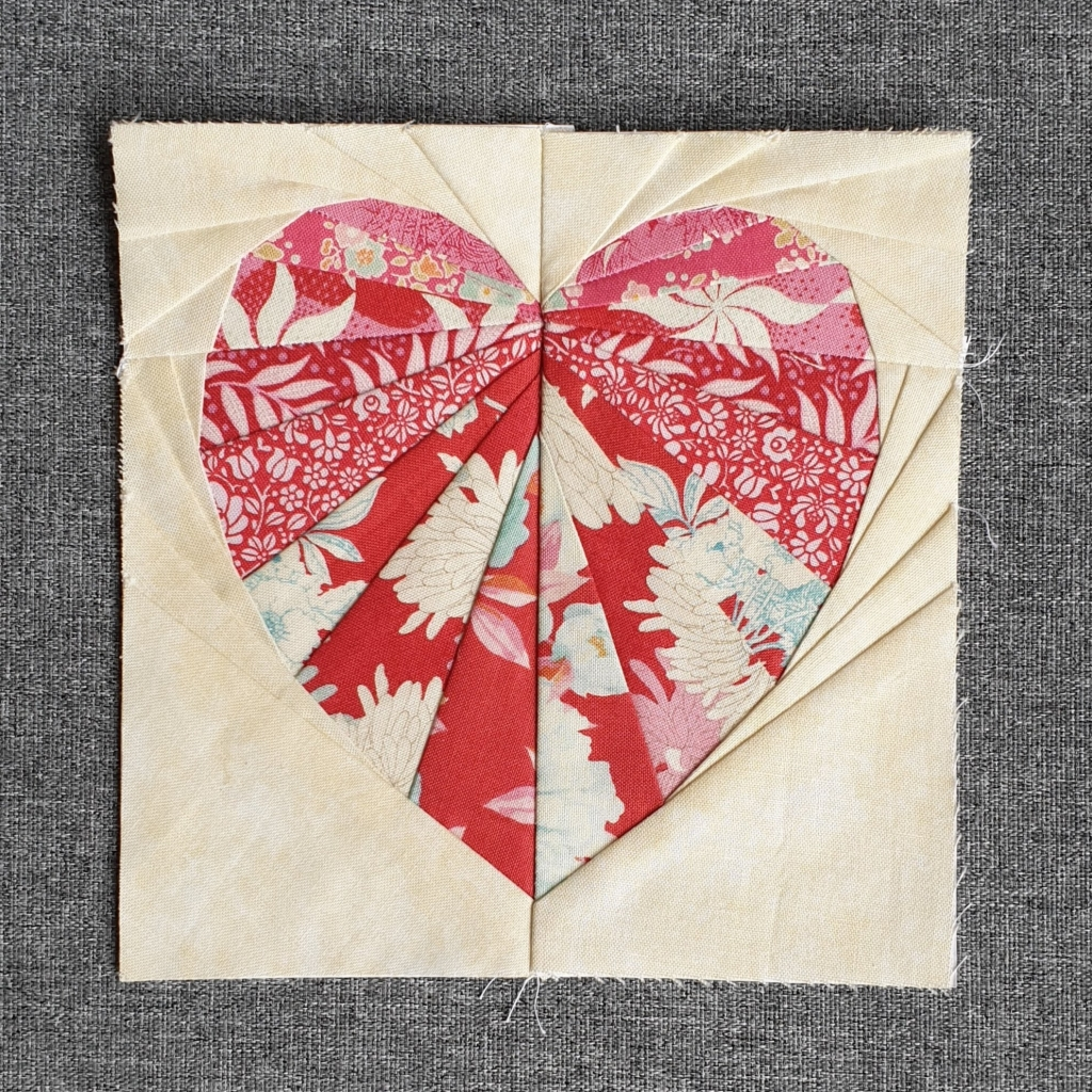 "6"" Facets of the Heart in TIlda fabric by Victoria Peat"
