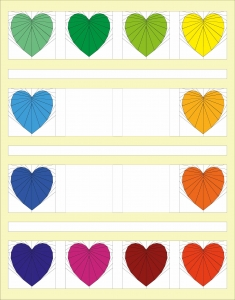 Add Horizontal Sashing to your Rainbow Heart Quilt