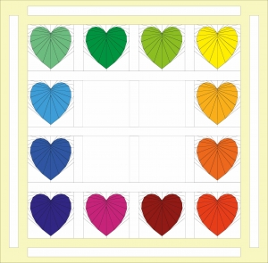 Add Outer Borders to your Rainbow Heart Quilt