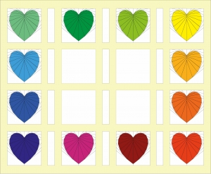 Add Vertical sashing to your Rainbow Heart Quilt