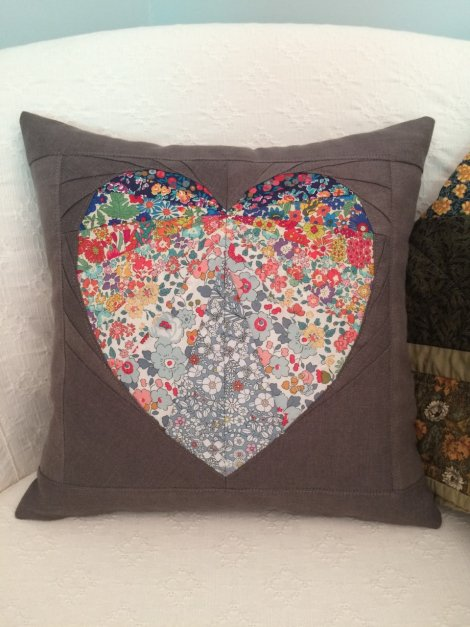 Annie Baptista Liberty Facets of the Heart Cushion