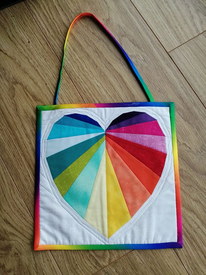 Gemma Irving Rainbow Facets of the Heart Window Hanging