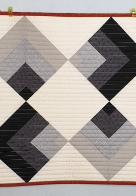 Grey Point on Point quilt in the Wall Hanging