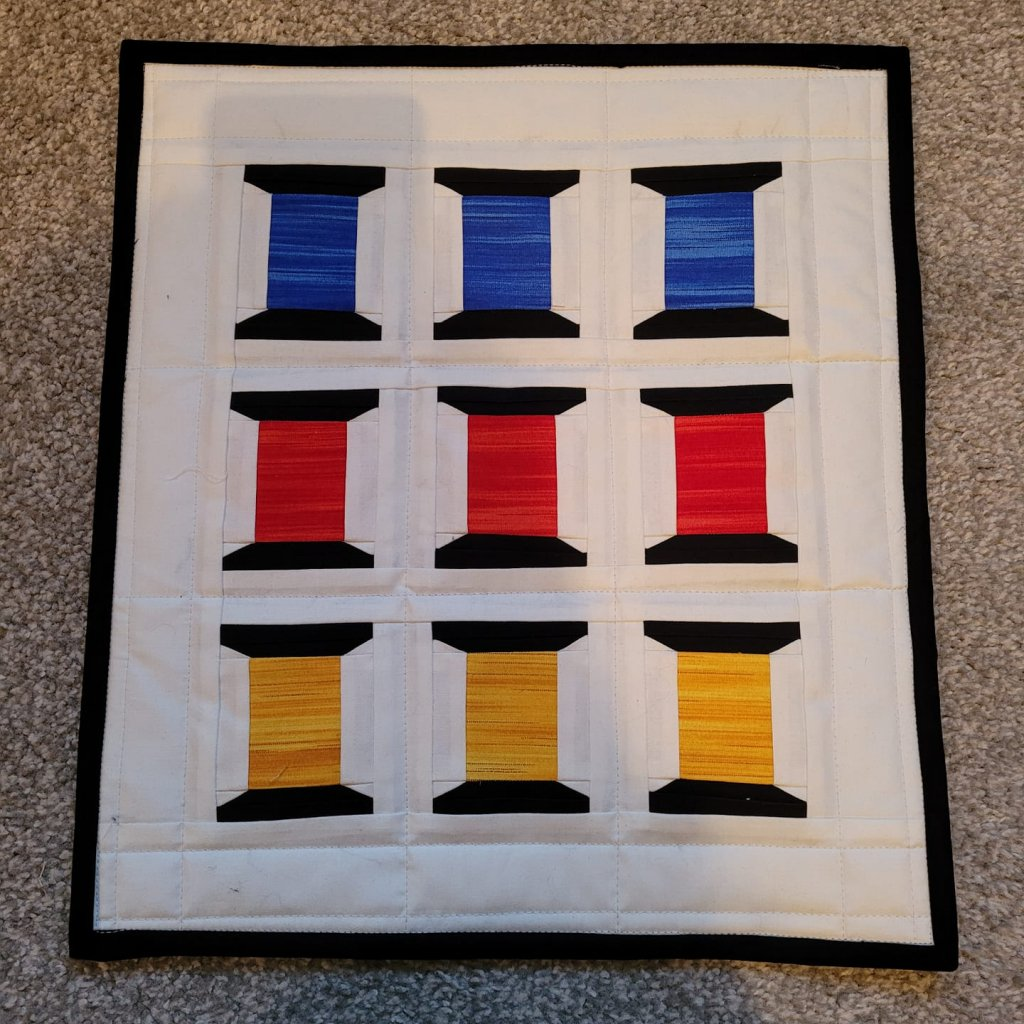 Heather Hardy Spools of Thread Mini Quilt
