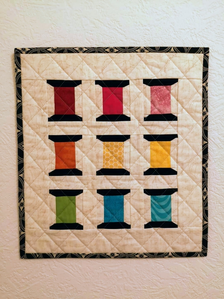 Paulette Crawford Spools of Thread FPP mini quilt