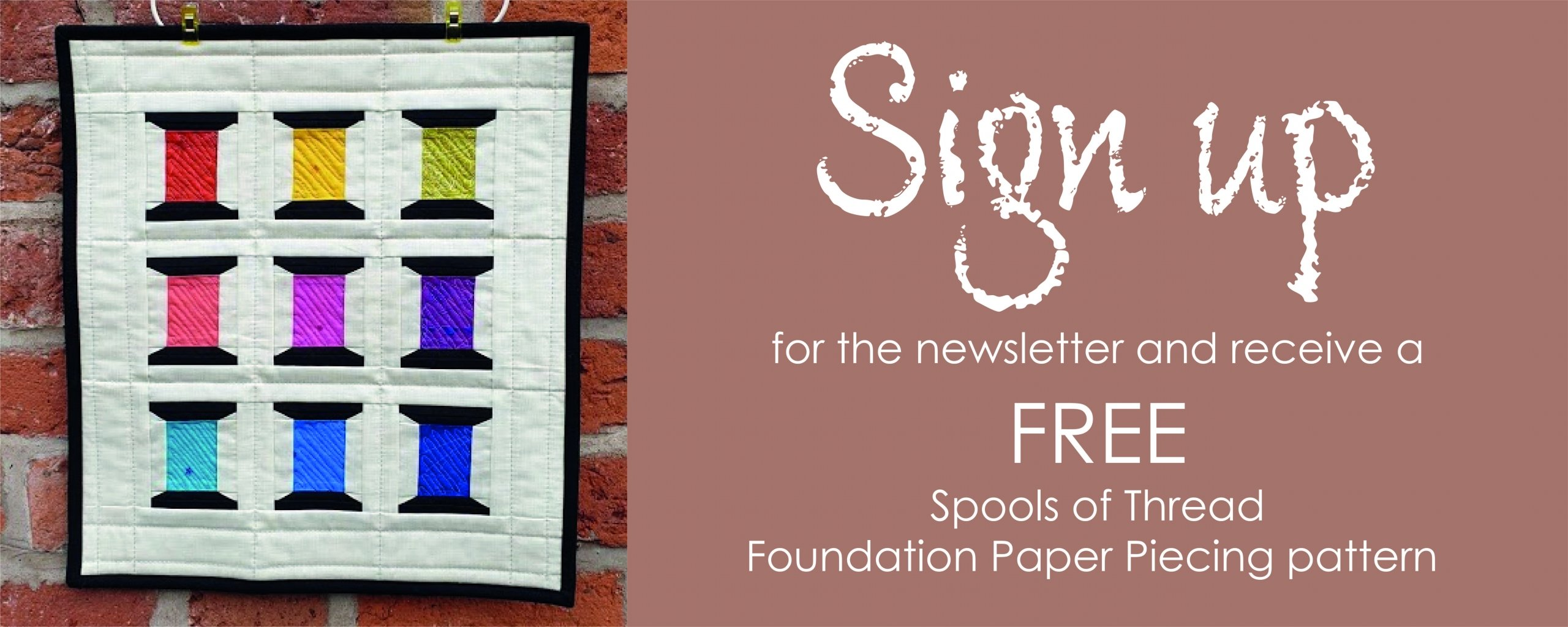 Sign up for the newsletter for a FREE FPP pdf pattern