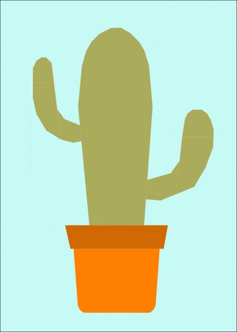 Cactus in a Pot FPP coloured image