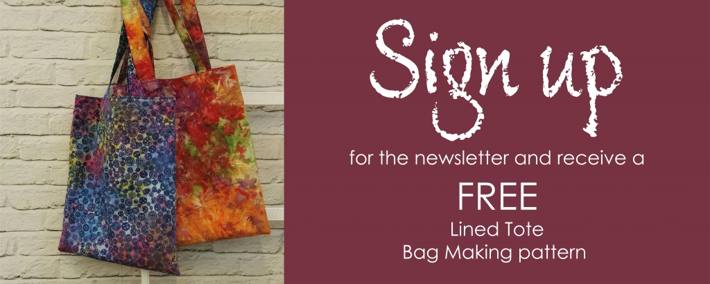 Lined Tote Bag for Newsletter Sign Up