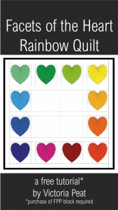 Facets of the Heart Rainbow Quilt Idea