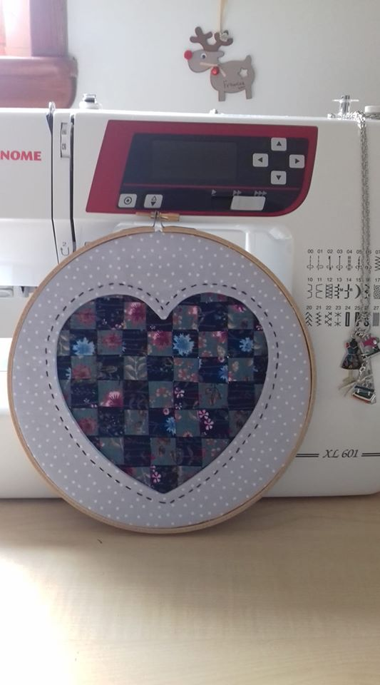 Frances Muir Reverse Applique Woven Heart