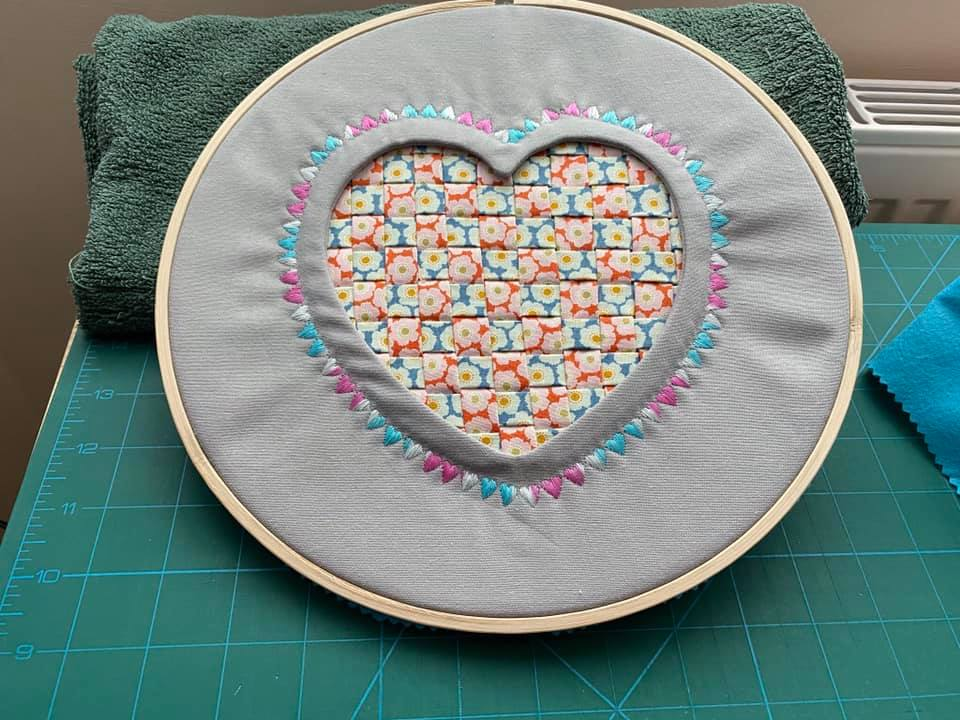 Iris Henderson Reverse Applique Heart