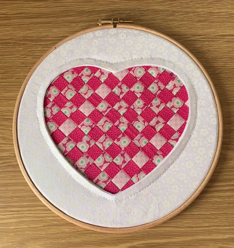 Lesley Green Reverse Applique Woven Heart