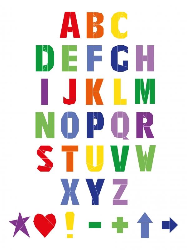 Mini FPP Alphabet in Rainbow Colours