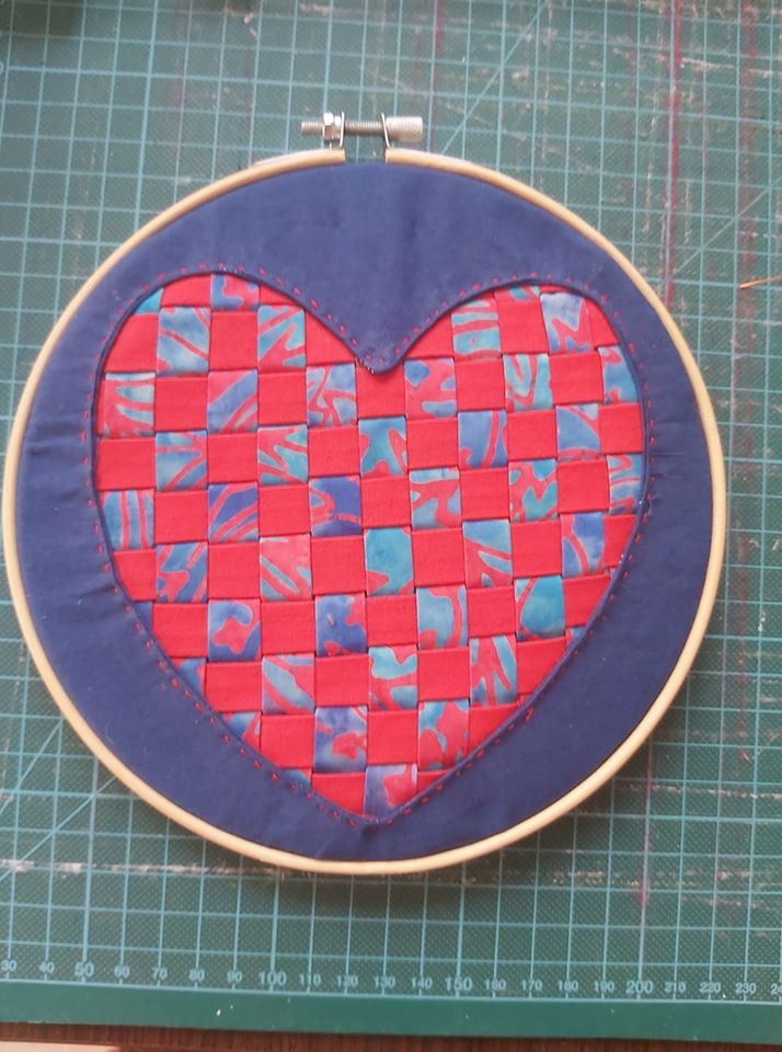 Sue Stabler Reverse Applique Heart