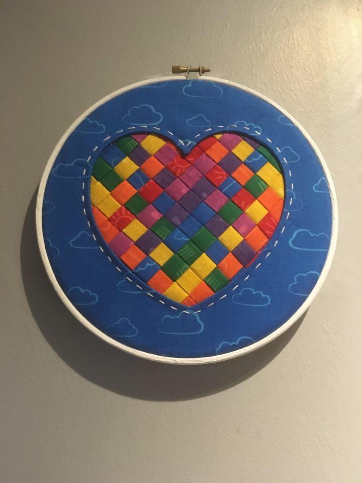 Vanessa Allen Reverse Applique Woven Heart