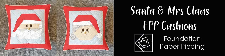 Santa and Mrs Claus FPP Cushions