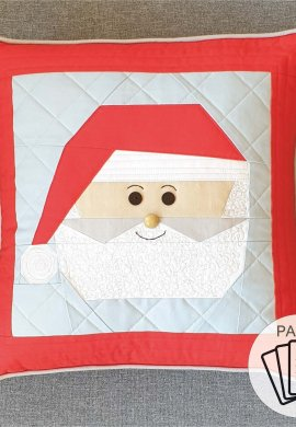 Santa Paper Pattern with logo