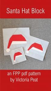 Santa Hat FPP Block pdf pattern