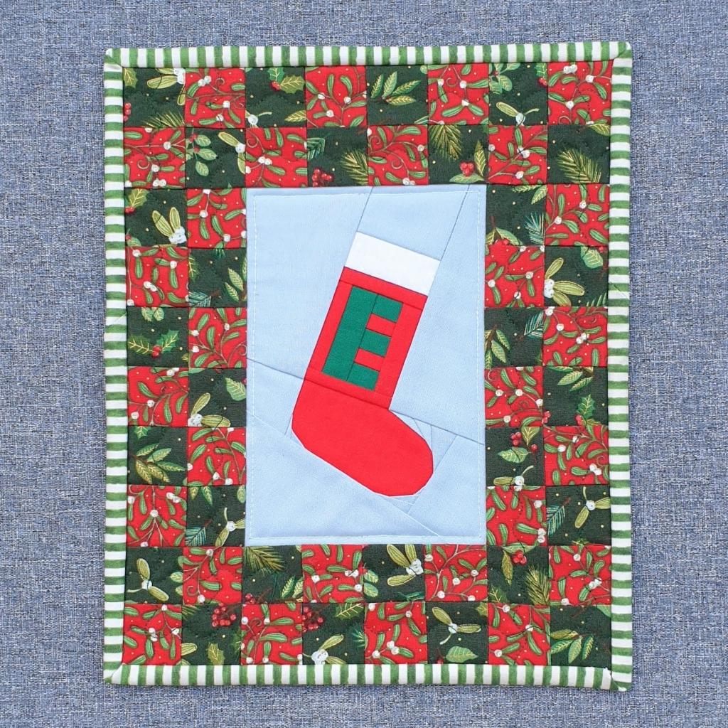 Christmas stocking Elf on the Shelf Quilt