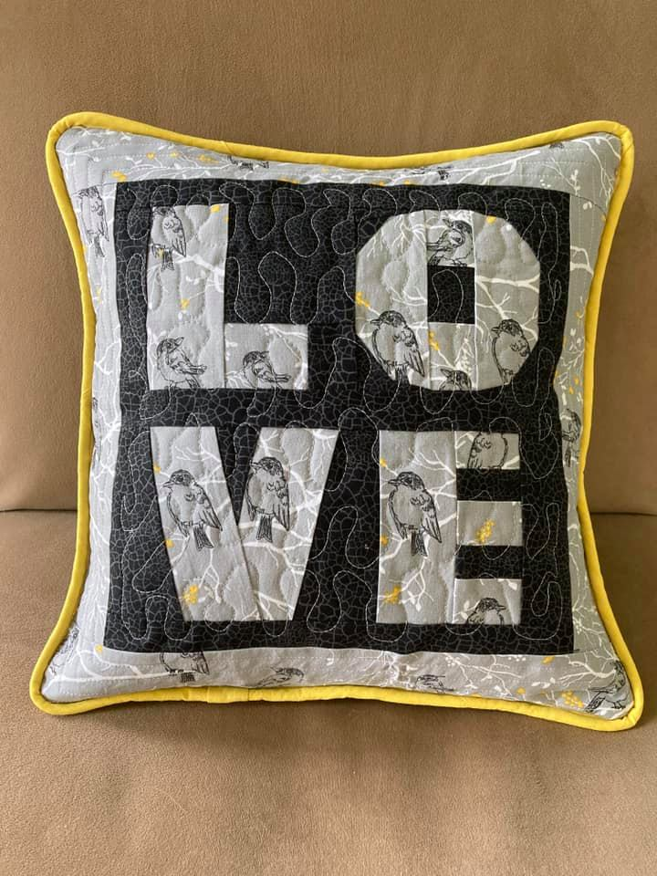 Cathy McKelvey LOVE Piped Cushion