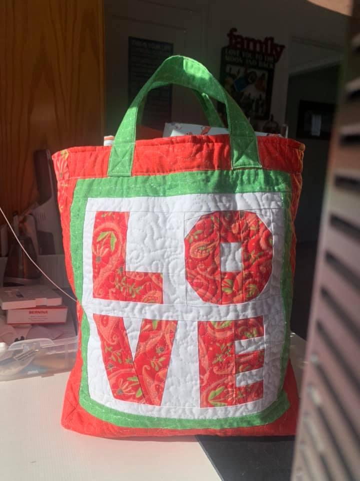 Gina White LOVE FPP Tote Bag