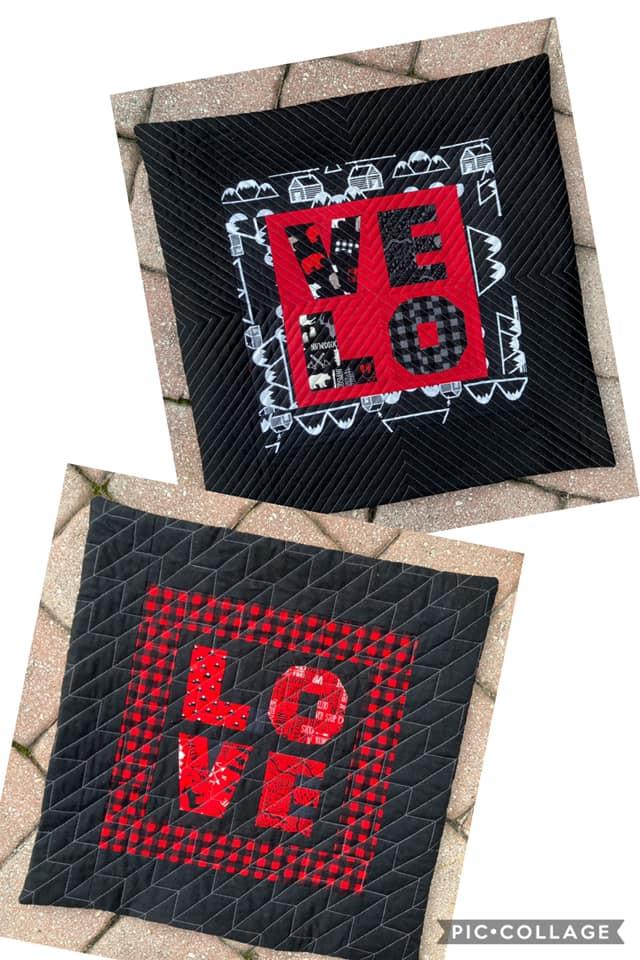 Jess Olney LOVE FPP Black cushions