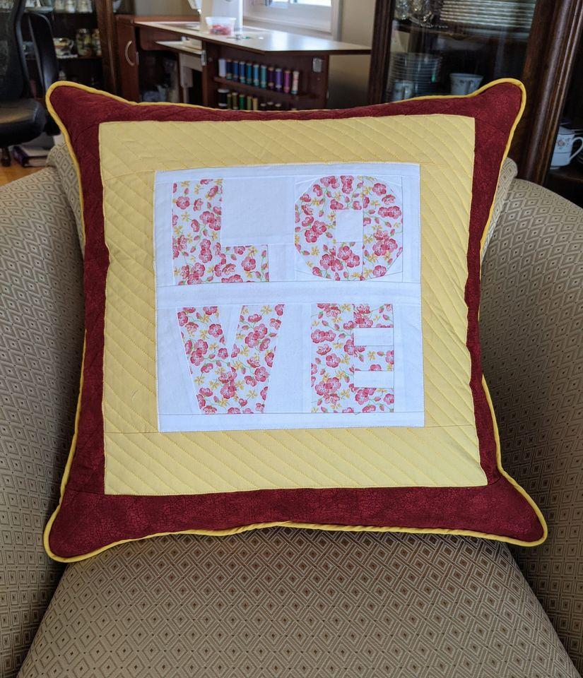Laurie Morris Manzer LOVE Large Cushion
