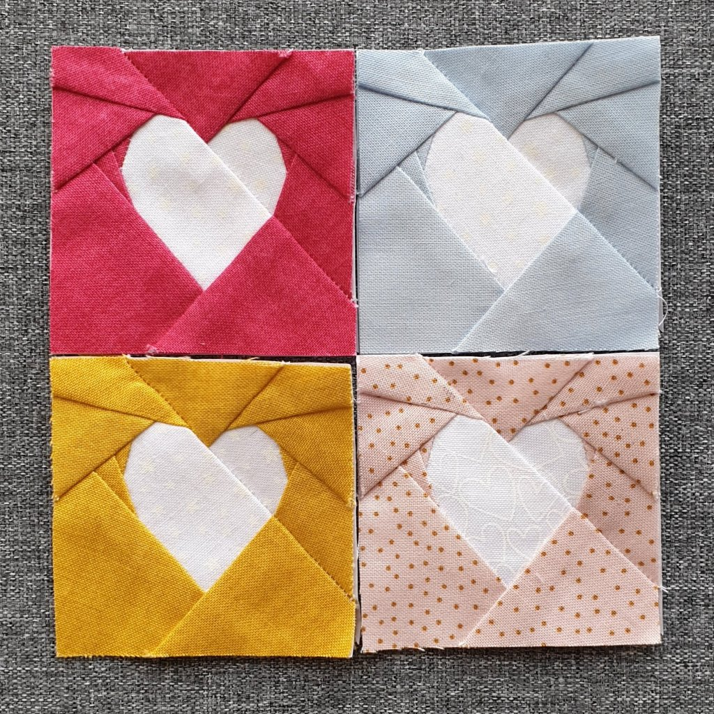 Group of four Simple FPP Hearts