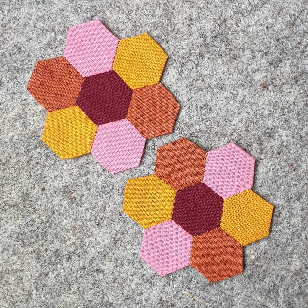 Half Inch Hexies for Nifty Needlebook