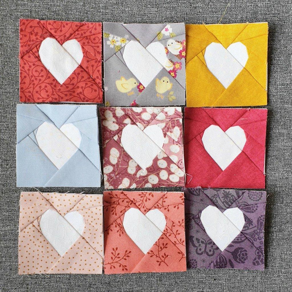 Group of nine Simple FPP Hearts
