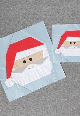 Santa 10inch and 6inch blocks